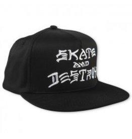 THRASHER THRASHER - SKATE AND DESTROY EMBROIDERED SNAPBACK CAP
