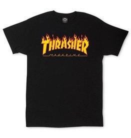THRASHER THRASHER - FLAME LOGO TEE