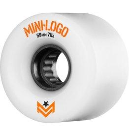 MINI LOGO MINI LOGO - WHITE WHEELS 59MM 78A