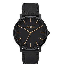 NIXON - PORTER LEATHER ALL BLACK/GOLD