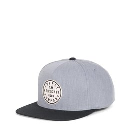 HERSCHEL HERSCHEL - TM SNAPBACK CAP HEATHER GREY / BLACK