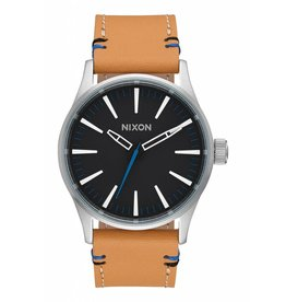 NIXON - SENTRY 38 LEATHER BLACK / NATURAL