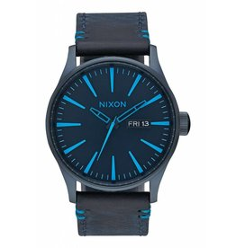 NIXON - SENTRY LEATHER ALL DARK BLUE