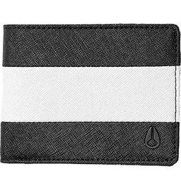NIXON NIXON - ARC BI-FOLD WALLET BLACK WHITE BLACK