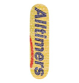 "ALLTIMERS ALLTIMERS - BUBBLE WRAP YELLOW 8.1"" DECK"