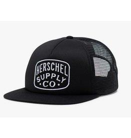 HERSCHEL HERSCHEL - WHALER MESH PATCH BLACK CAP