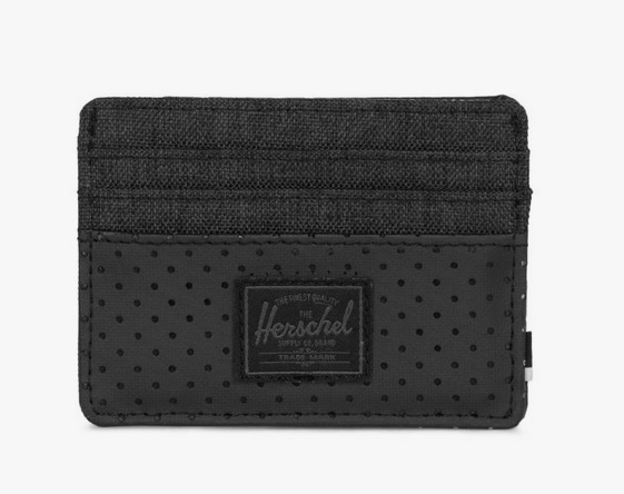 HERSCHEL HERSCHEL - FELIX BLACK CROSSHATCH / BLACK WALLET