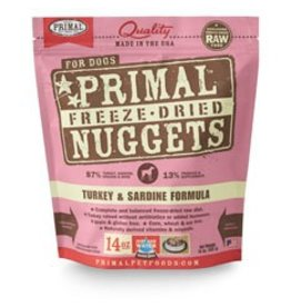Primal Frz Dried Turkey & Sardine Food, 5.5oz