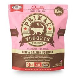Primal Raw Beef & Salmon Cat Food, 3lb