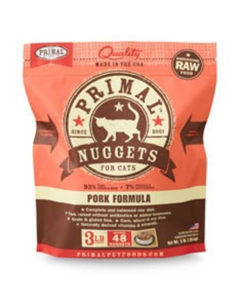 Primal Raw Pork Cat Food, 3lb