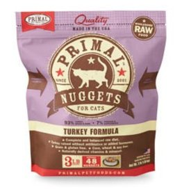 Primal Raw Turkey Cat Food, 3lb