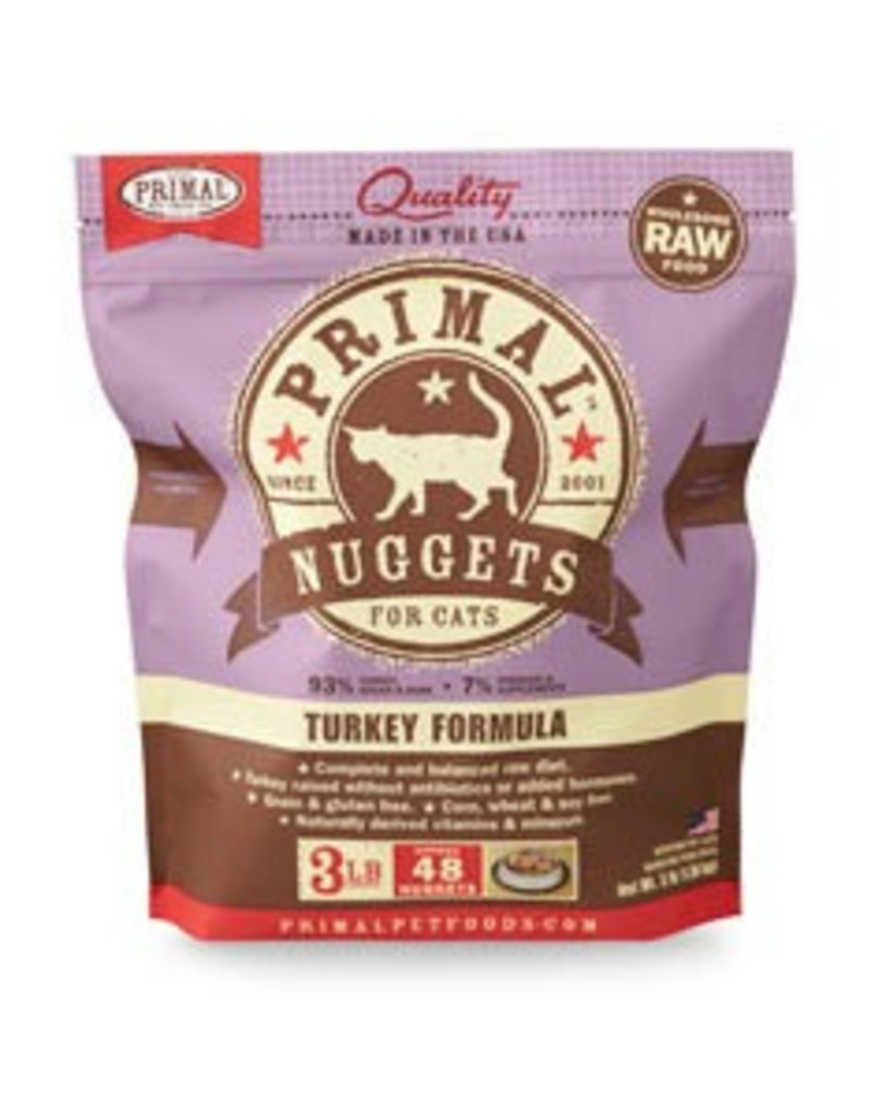 Primal Raw Turkey Cat Food, 3lb