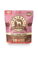 Primal Raw Turkey Dog Food 3 lb
