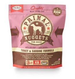 Primal Raw Turkey Dog Food 3 lb