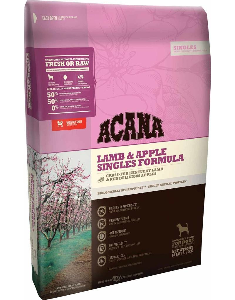 Acana Lamb & Apple dry Dog Food  13lb