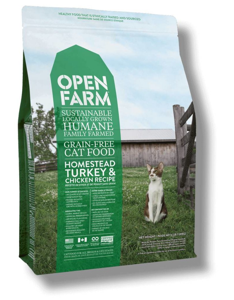 Open Farm Turkey & Chicken Cat Food 4lb