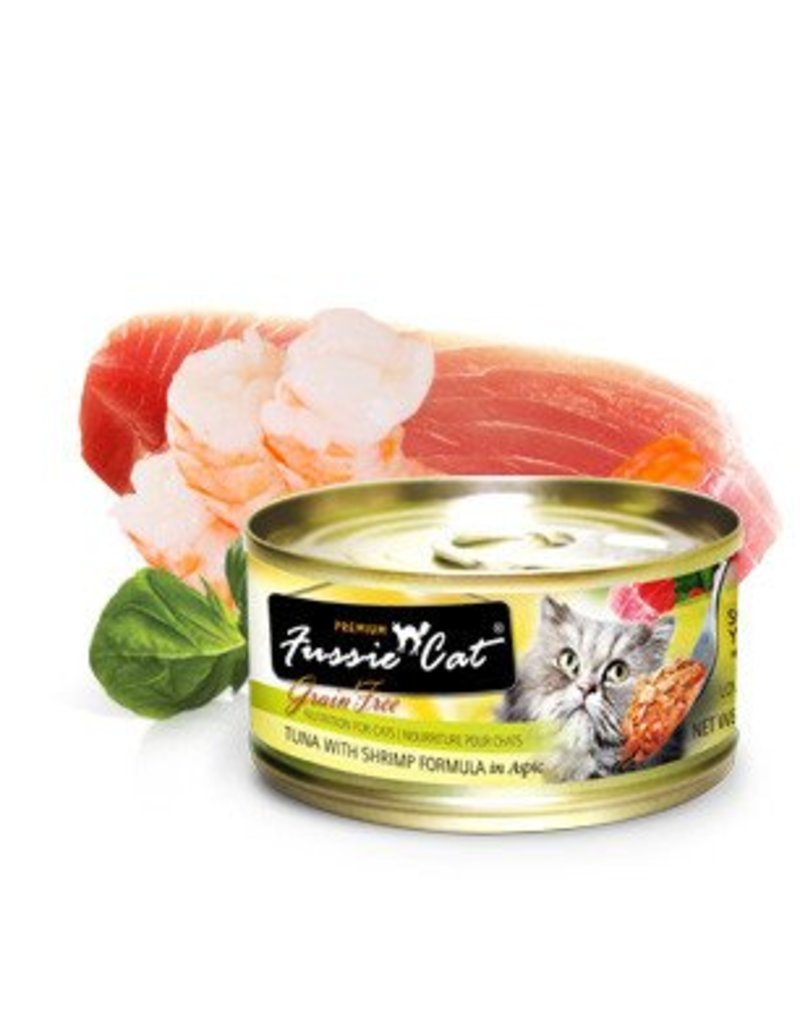 Fussie Cat Tuna w/Shrimp 2.8oz (24/pk)