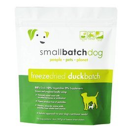 Small Batch Freeze Dried Duck Dog Food 14oz