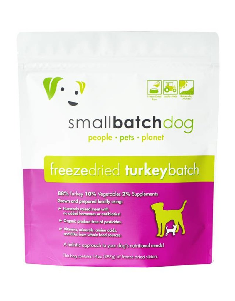 Small Batch Freeze-Dried Turkey Dog Food 14oz
