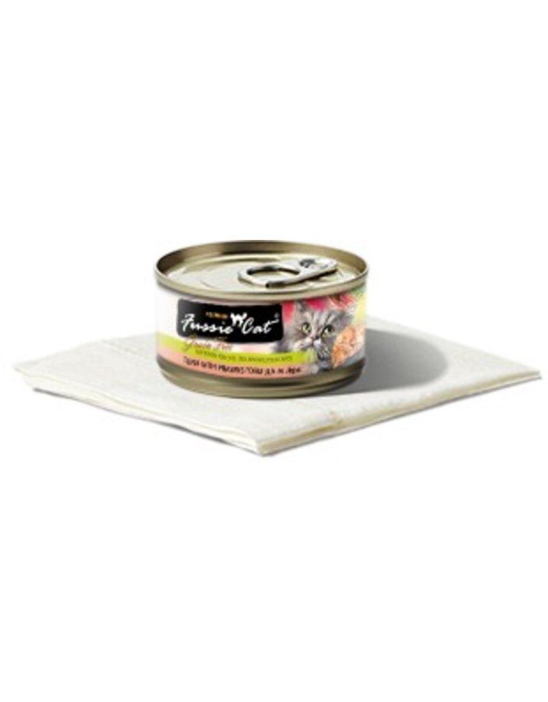 Fussie Cat Tuna w/Prawn 2.8oz (24/pk)