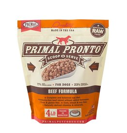 Primal Pronto Raw Beef Dog Food 4lb