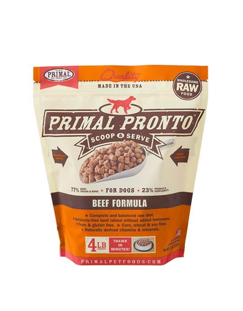 Primal Pronto Raw Beef Dog Food 4lb