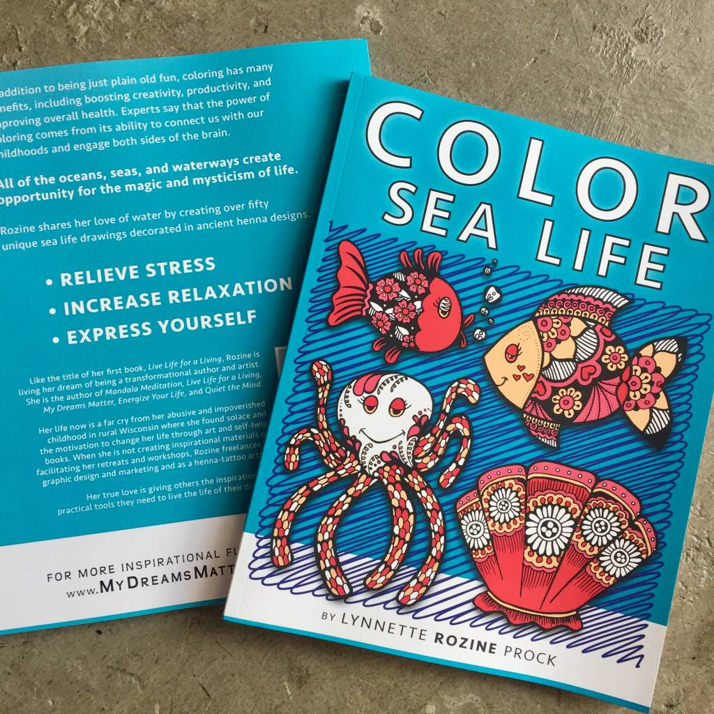 Sea Life Inspired Coloring Book For All Ages