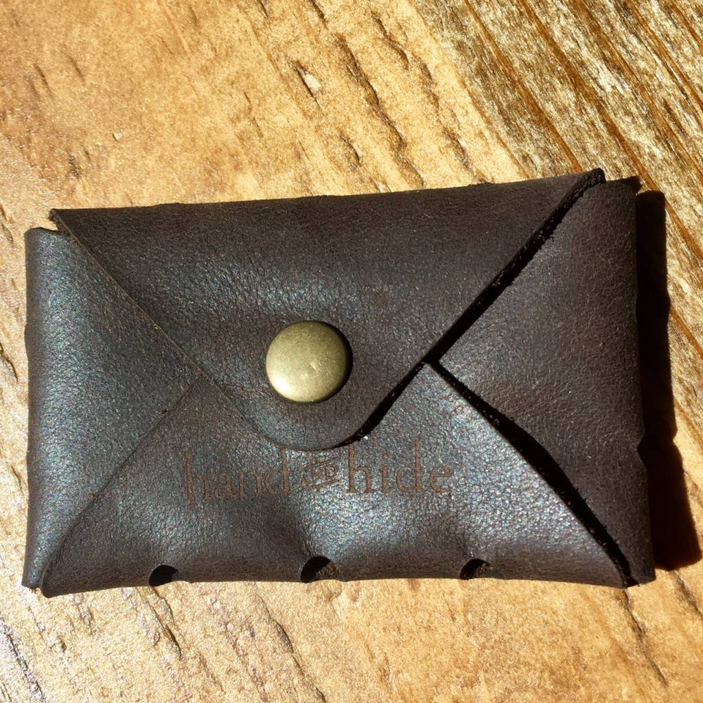 Handmade Leather Business Card Case - MindfulNest