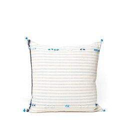 Injiri Teal Stripe Pillow 24x24B