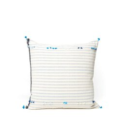 Injiri Teal Stripe Pillow