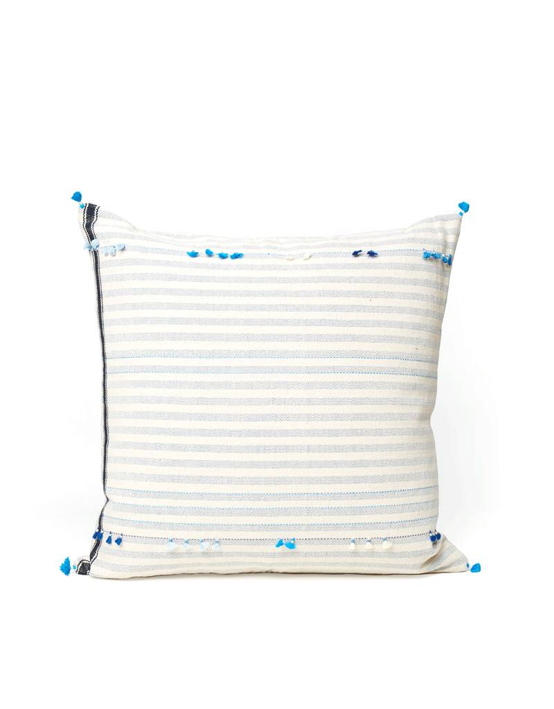 Injiri Teal Stripe Pillow