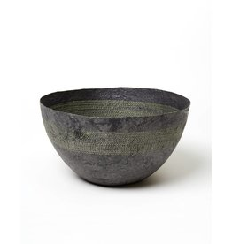 Far & Wide Collective Large Yellow Stitched Charcoal Pulp Bowl