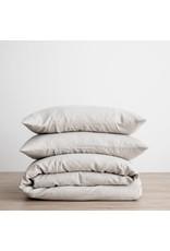 Cultiver Smoke Gray Linen Duvet Set