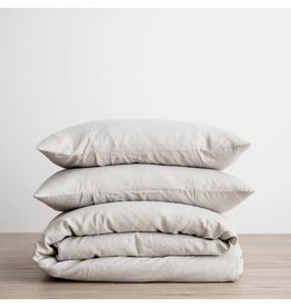 Cultiver Smoke Gray Linen Duvet Set