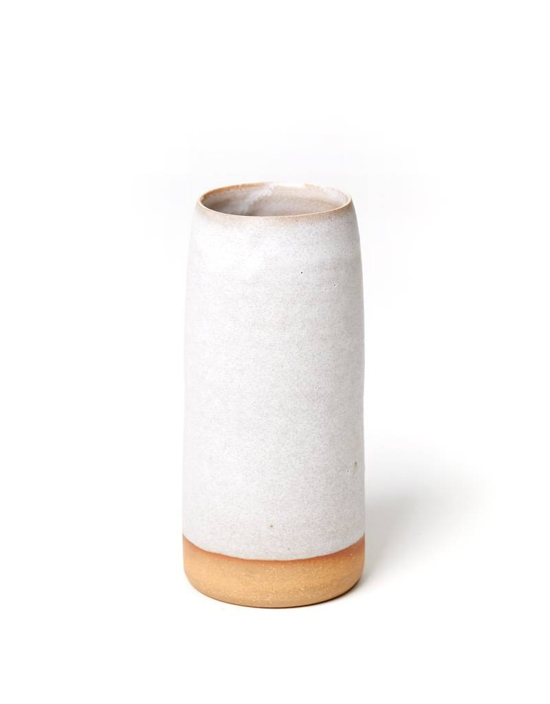 Shelter Collection White & Natural Vase, Large