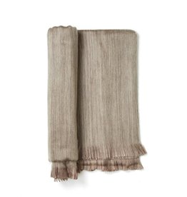 Shupaca Driftwood Fringed Alpaca Throw