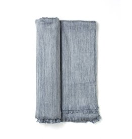Shupaca Pewter Sky Fringed Alpaca Throw