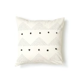 Anchal Project Embroidered White Triangle Pillow