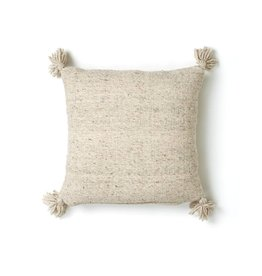 "Territory Design Gray Puro Wool Pillow 20"" x 20"""