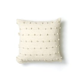 "Territory Design Loops Wool Pillow- 24""x24"" Euro"