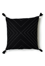 Anchal Project Geometric Black Tassel Pillow
