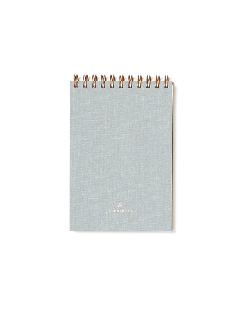 Appointed Dove Gray Pocket Notepad