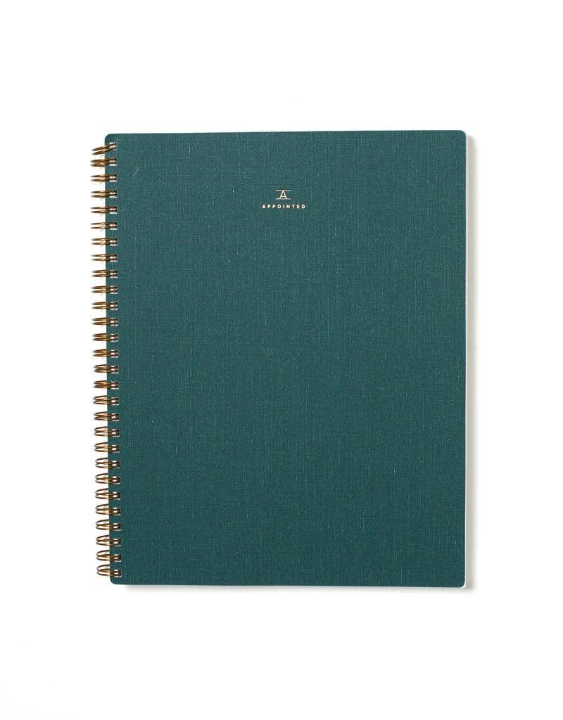 Appointed Hunter Green Notebook, Lined