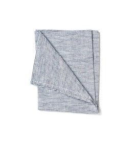 Fog Linen Linen Kitchen Towel -White Seersucker