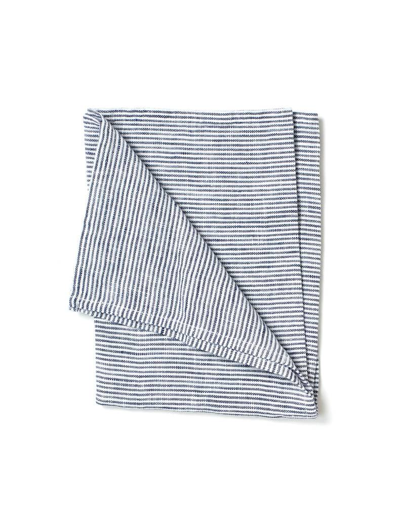 Fog Linen White Seersucker Linen Kitchen Towel