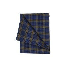 Fog Linen Green & Blue Plaid Linen Kitchen Towel (Scott)