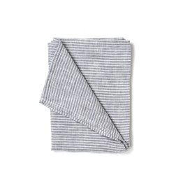 Fog Linen Linen Kitchen Towel-Gray & White Stripe