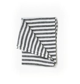 Fog Linen Linen Kitchen Towel-Black & White Stripe