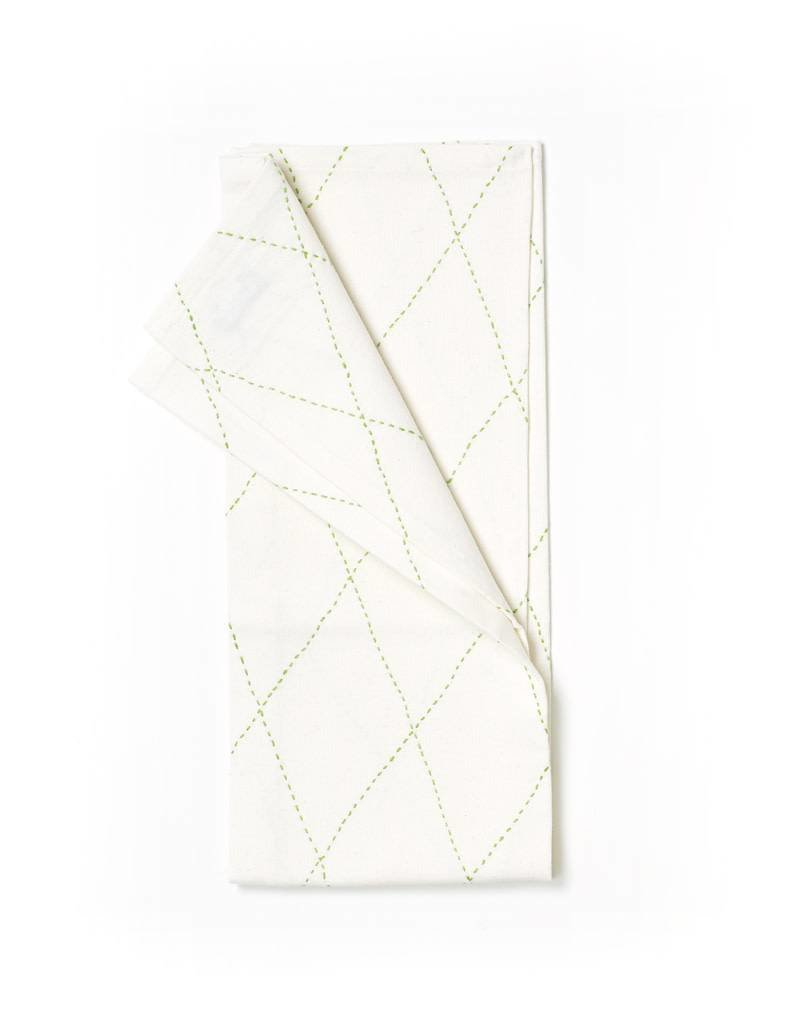 Anchal Project Green Diamond Tea Towel
