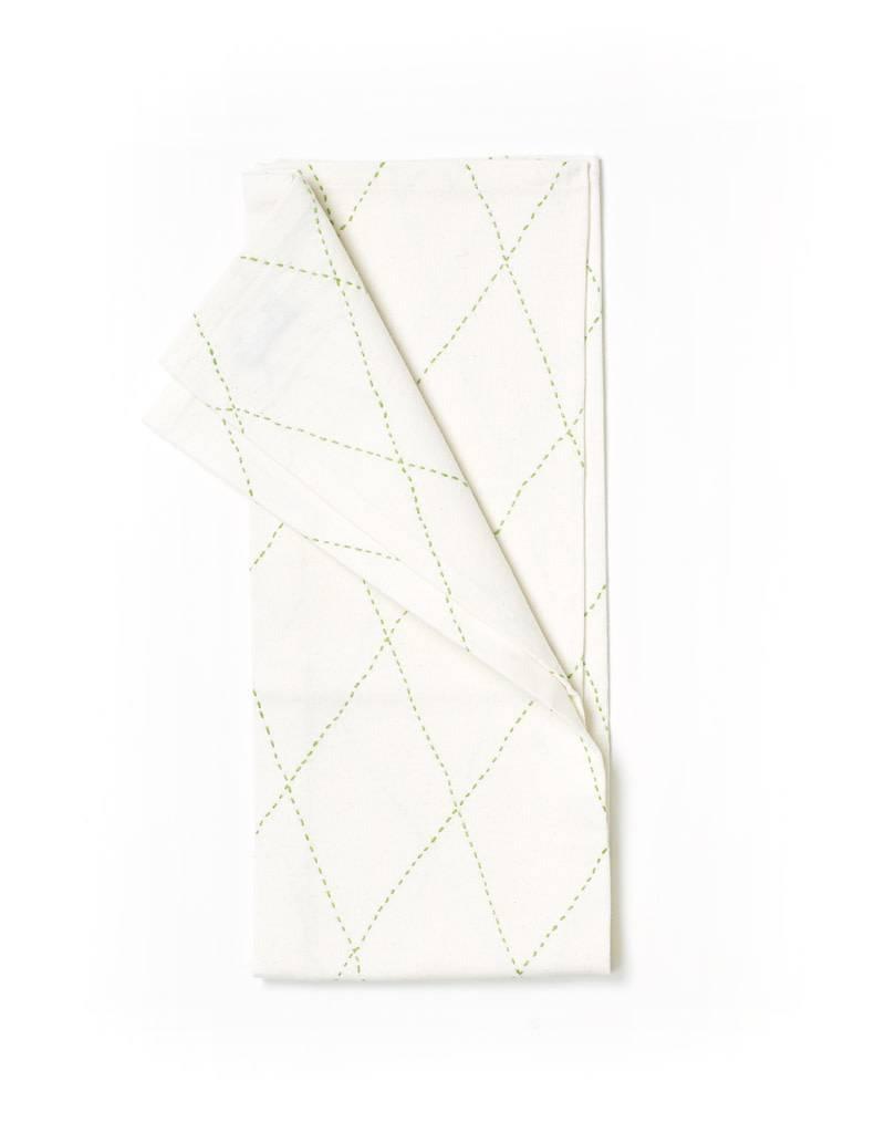 Anchal Project Green Diamond Tea Towel
